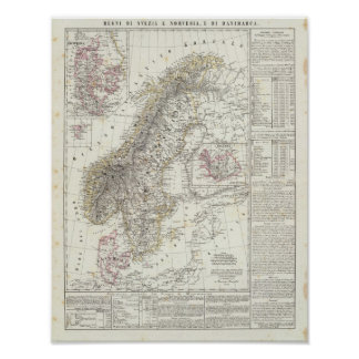 Skandinavien sverige, norge poster