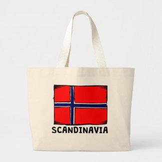 Skandinavienflagga Jumbo Tygkasse