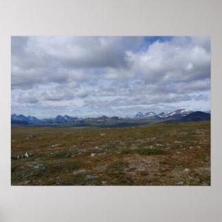 Skandinavisk bergskedja affisch