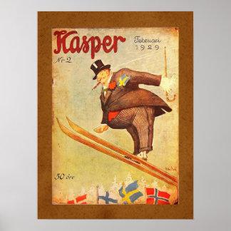 Skandinavisk cigarrannons för vintage print