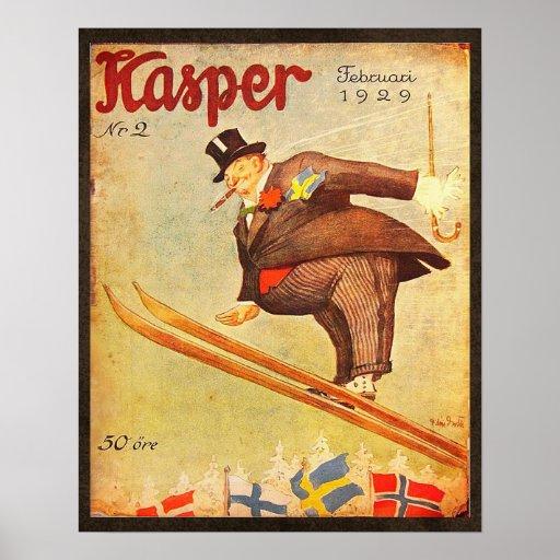 Skandinavisk cigarrannons för vintage affisch