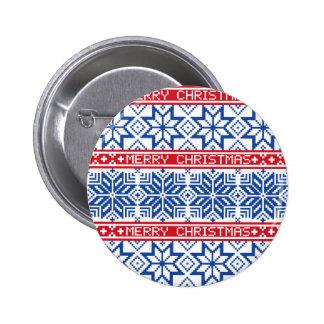 Skandinavisk god jul standard knapp rund 5.7 cm