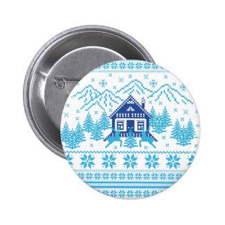 Skandinavisk helgdagdesign standard knapp rund 5.7 cm