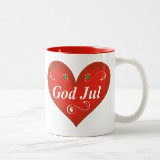Skandinavisk hjärta för gudJul jul Kaffe Koppar