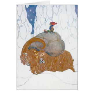 Skandinavisk jul hälsningskort