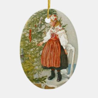 Skandinavisk jul julgransprydnad keramik