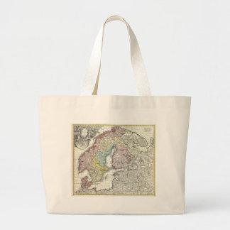Skandinavisk karta för vintage kassar