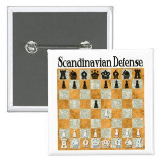 Skandinaviskt försvar standard kanpp fyrkantig 5.1 cm