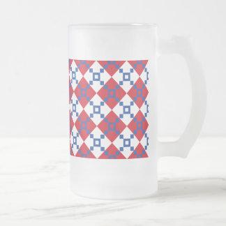 Skandinaviskt julmönster frostad glas mugg