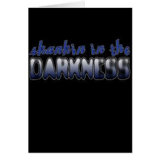 Skankin i DANSEN för mörker DUBSTEP Hälsnings Kort