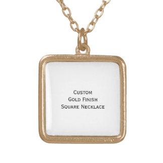 Skapa beställnings- guld- fullföljande kvadrerar guldpläterat halsband