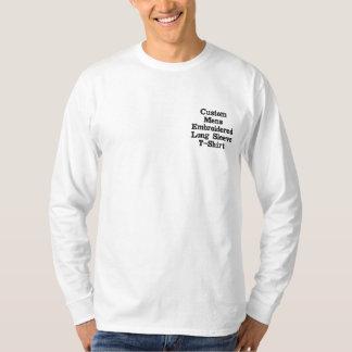 Skapa beställnings- manar den broderade broderad långärmad t-shirt