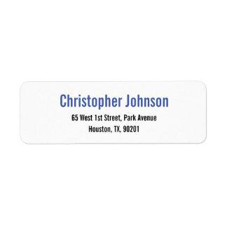 Skapa den vanliga eleganta returadressetiketten returadress etikett