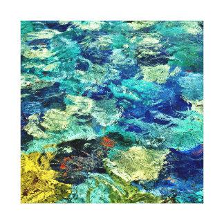 Skapa din egna abstrakt konst 12 x 12 canvastryck