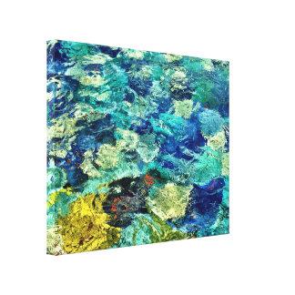 Skapa din egna abstrakt konst 14 x 11 canvastryck
