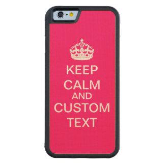 Skapa din egna behållalugn och bär på carved lönn iPhone 6 bumper skal