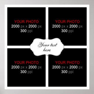 Skapa din egna bröllopfotoCollage 003 Poster