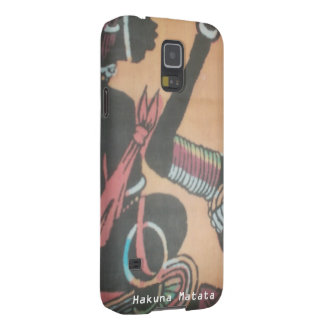 Skapa din egna färgrika Hakuna Matata gulliga söt Galaxy S5 Fodral