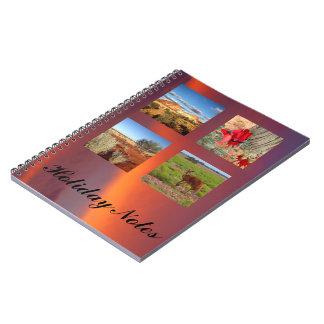 Skapa din egna fotoanteckningsbok anteckningsbok med spiral