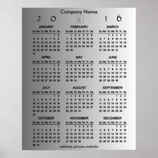 Skapa din egna kalender för affärsPromo 2016 Poster