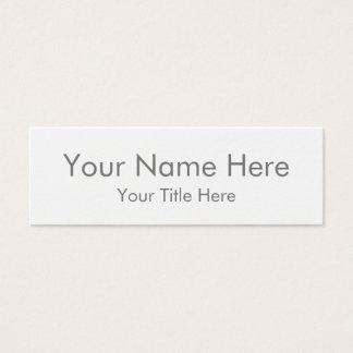 Skapa din egna mini- visitkort