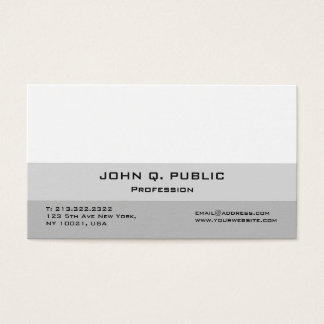 Skapa din egna moderna yrkesmässiga elegant visitkort