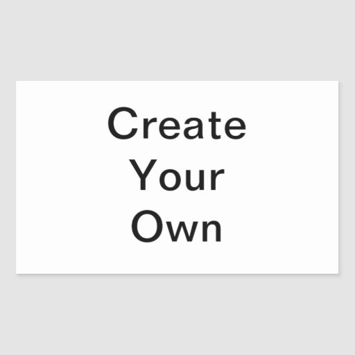 Skapa din egna rektangelklistermärke rektangelformade klistermärken