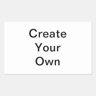 Skapa din egna rektangelklistermärke rektangulärt klistermärke