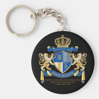 Skapa din guld- lejona Emblem för egna Rund Nyckelring