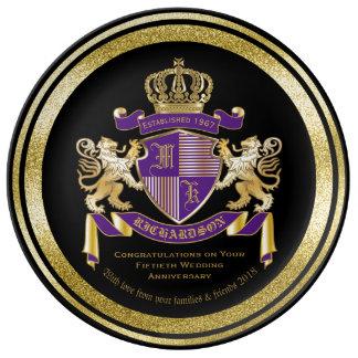 Skapa din lejona Emblem för den egna Porslinstallrik