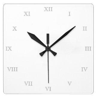 Skapa din tomma mall för egna romerska tal fyrkantig klocka