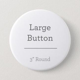 Skapa ditt eget knäppas mellanstor knapp rund 7.6 cm