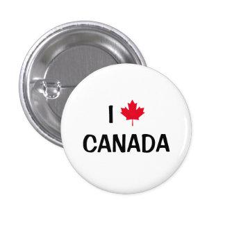 Skapa ditt eget mig älskar den Kanada lönnlövet Mini Knapp Rund 3.2 Cm