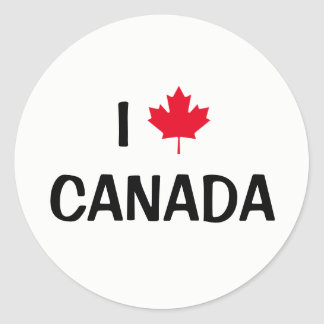 Skapa ditt eget mig älskar den Kanada lönnlövet Runt Klistermärke