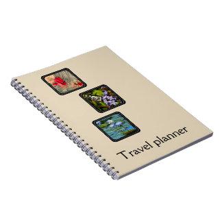 Skapa ditt eget reser planneren anteckningsbok med spiral