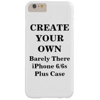 Skapa ditt egna knappt där plusfodral för iPhonen Barely There iPhone 6 Plus Skal