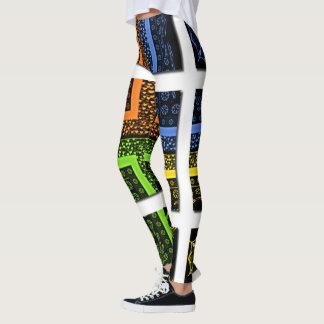 Skapa ditt egna roliga trevliga älskvärda färgrikt leggings