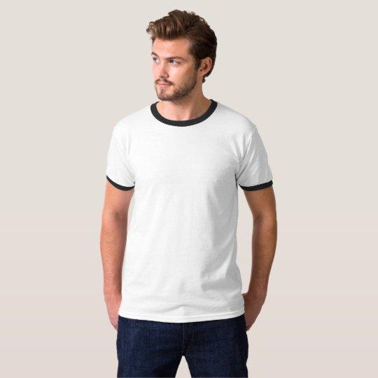 T-tröja med rund hals, Vit/Svart