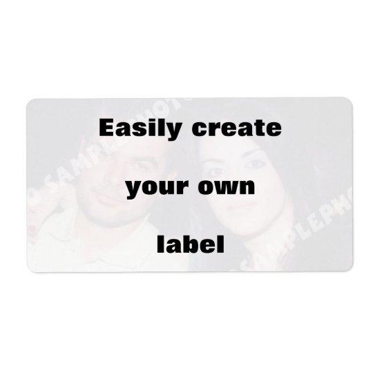 Skapa lätt din etikett. Ta bort den stora texten! Fraktsedel