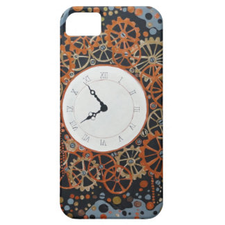 Skapa tid. akrylmålning, industriell steamp iPhone 5 cover