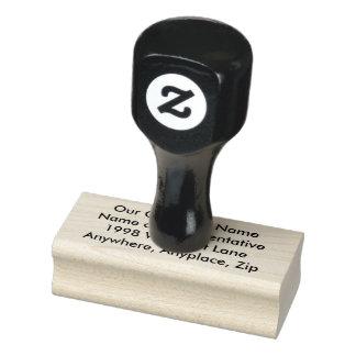 Skapar det Rubber frimärket för Wood konst ditt Stämpel