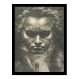 Skåpbil Beethoven porträtt Vykort