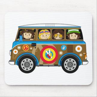 Skåpbil för Hippie för tecknadSixtiesfred Musmatta