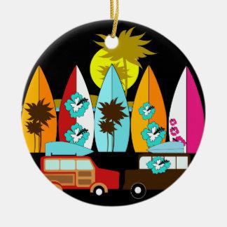 Skåpbilar för Hippie för surfare för Julgransprydnad Keramik