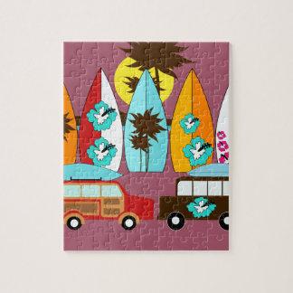 Skåpbilar för Hippie för surfingbrädastrand dåliga Pussel