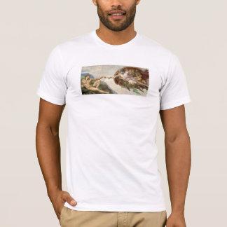 Skapelse av Adam - som målas av Michelangelo T Shirts