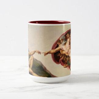 Skapelse av den Adam kaffemuggen Två-Tonad Mugg