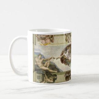 Skapelsen av Adam den historiska muggen Kaffemugg