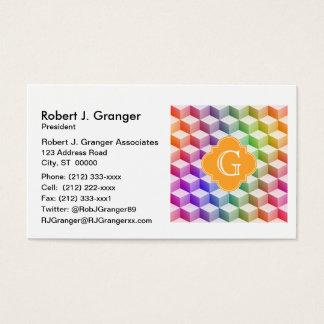 Skära i tärningar den pastellfärgade regnbågen visitkort