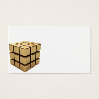 Skära i tärningar guld visitkort